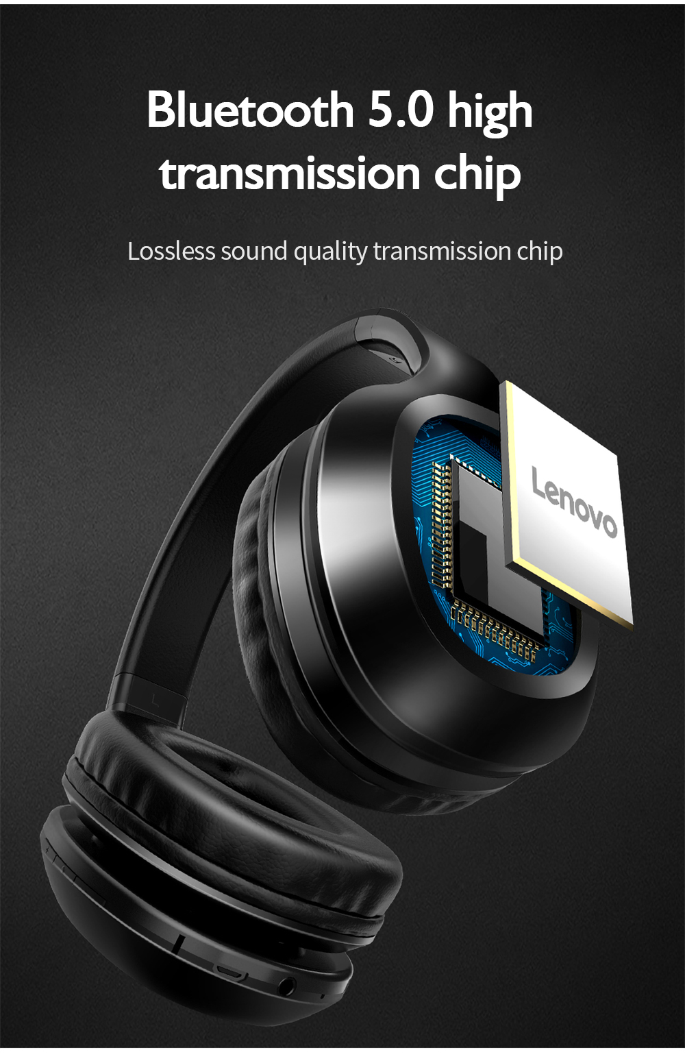 Lenovo HD100 Bluetooth Headset - Black