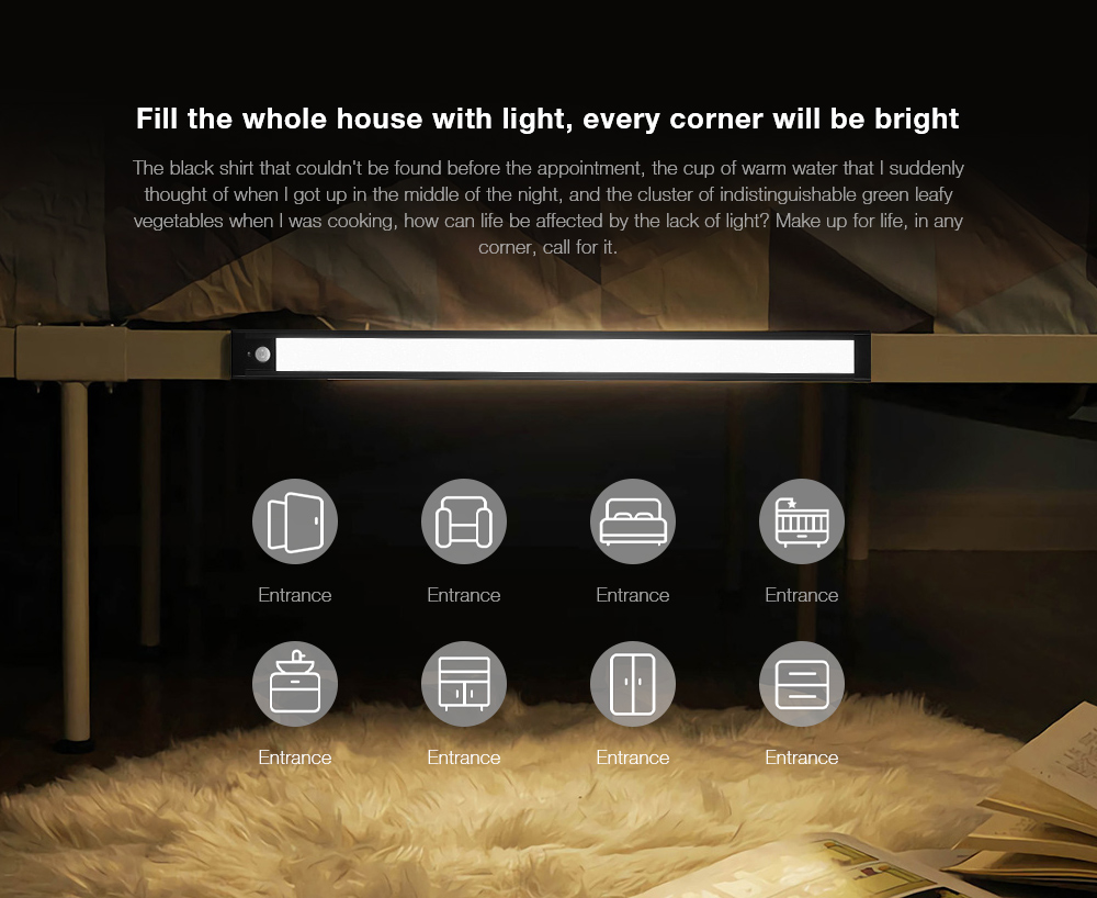 Smart Sensor Night Light Fill the whole house with light