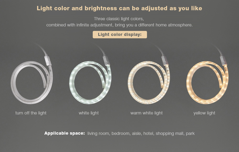 Smart LED Strip Light Light color and brightness can be adjusted as you like