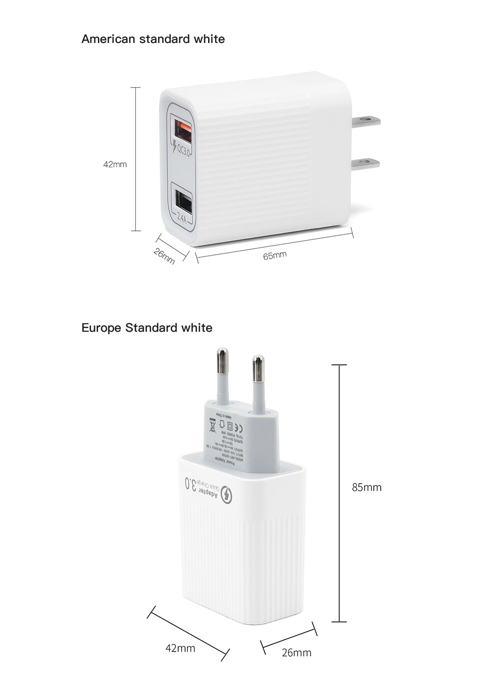 STARTRC Charger for DJI Mini 2 - White EU Plug