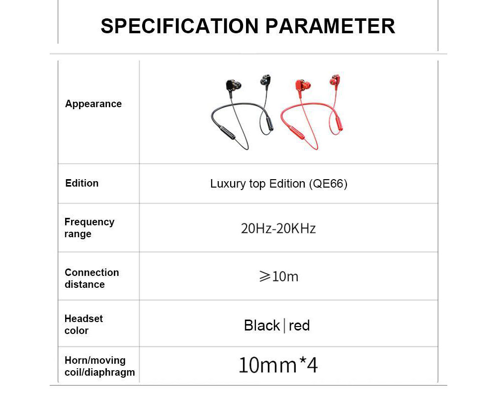 Lenovo QE66 Earphones Headphone - Red