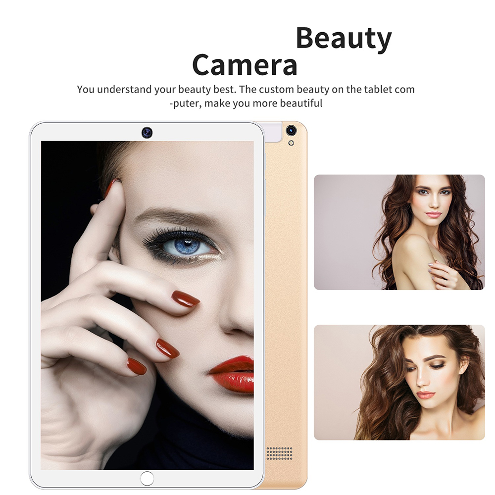 MT6580 Tablet PC Octa Core 1GB RAM 16GB ROM Android 5.1 3MP 0.2MP Cameras 4000mAh Battery OTG Bluetooth 10.1 Inch - White US Plug (2-pin)
