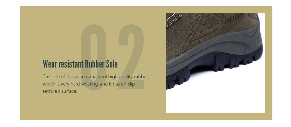 Autumn And Winter Outdoor Climbing Shoes Rubber Sole