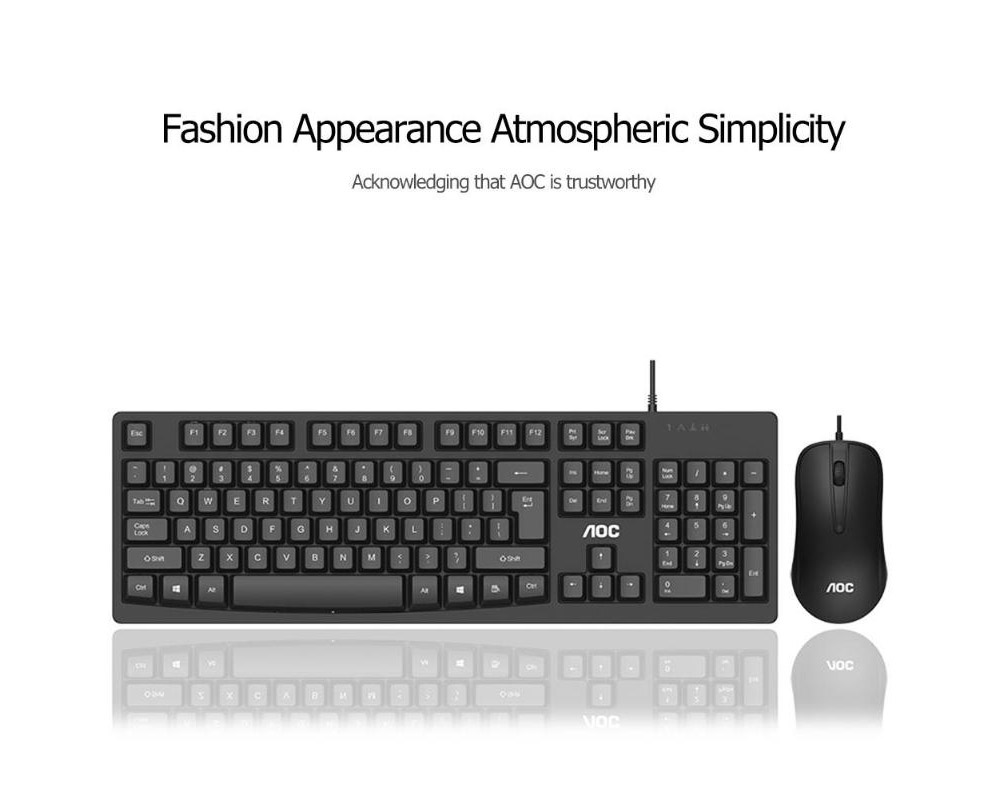 AOC KM160 Keyboard Mouse Set - Black