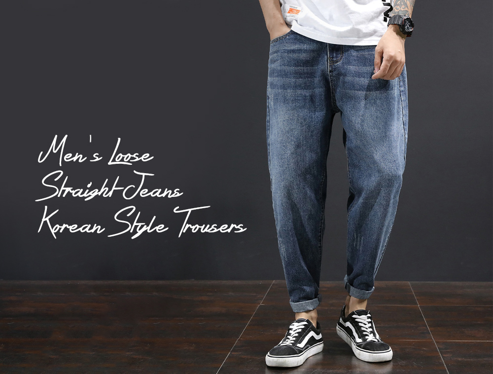 Men's Clothing Loose Straight Jeans