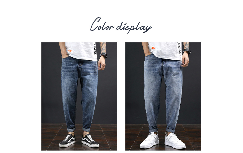 Men's Clothing Loose Straight Jeans color