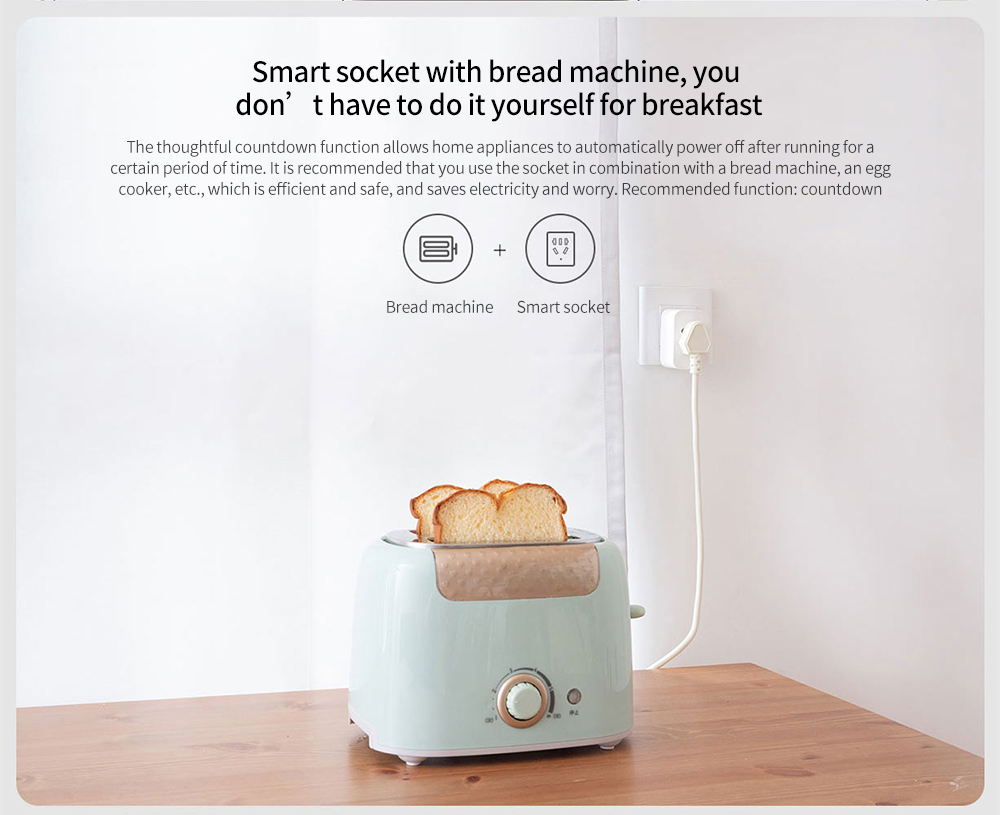 Mijia ZNCZ07CM Smart Socket 2 Smart socket with bread machine