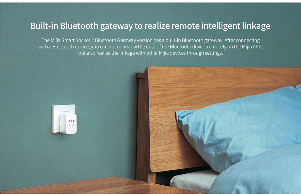 Mijia ZNCZ07CM Smart Socket 2 Built-in Bluetooth gateway