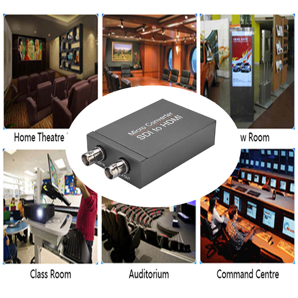 NK-M008 Mini HD 3G SDI to HDMI Converter with Automatic Detection of Camera Audio Format - Gray Cloud SDI to HDMI