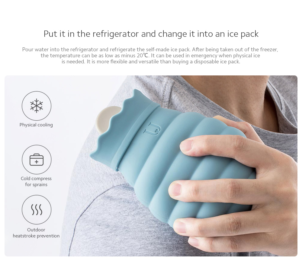 Microwaveable Silicone Hot Water Bottle Put it in the refrigerator and change it into an ice pack
