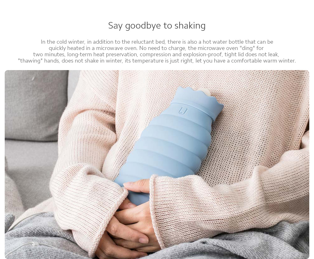 Microwaveable Silicone Hot Water Bottle Say goodbye to shaking