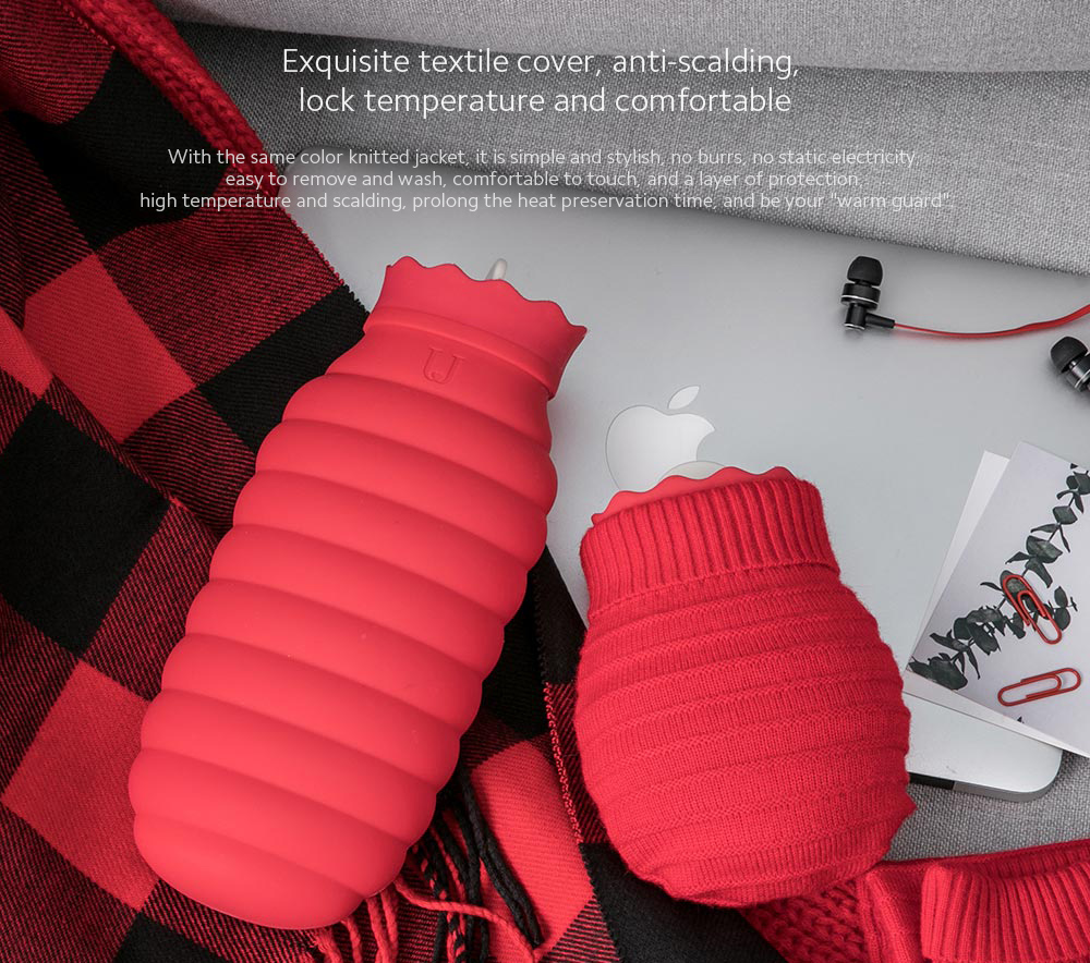 Microwaveable Silicone Hot Water Bottle Exquisite textile cover