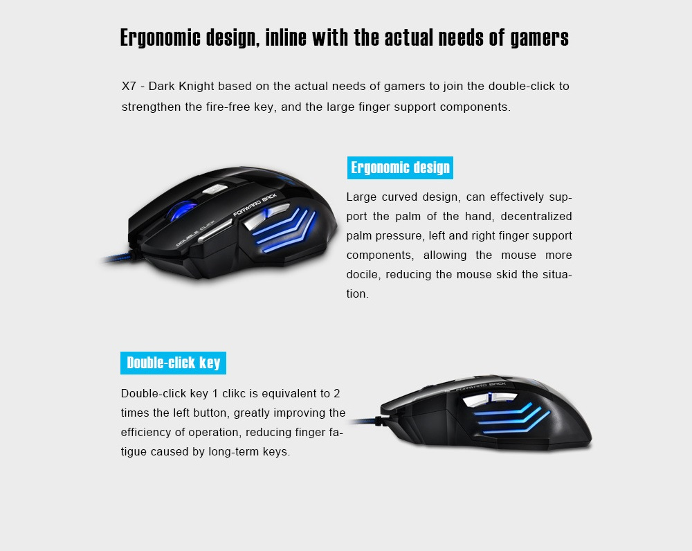 X7 Wired Gaming Mouse - Sun Yellow
