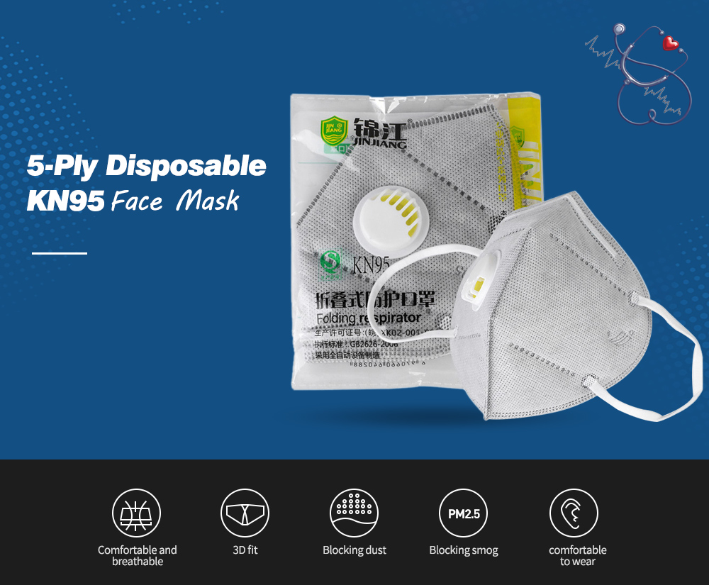 Disposable Mask 5-Ply Anti-Pollution Face Mask