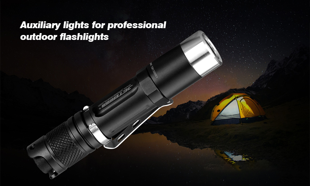 JETbeam PA12 Strong Light Portable LED Flashlight Auxiliary lights for professional outdoor flashlights