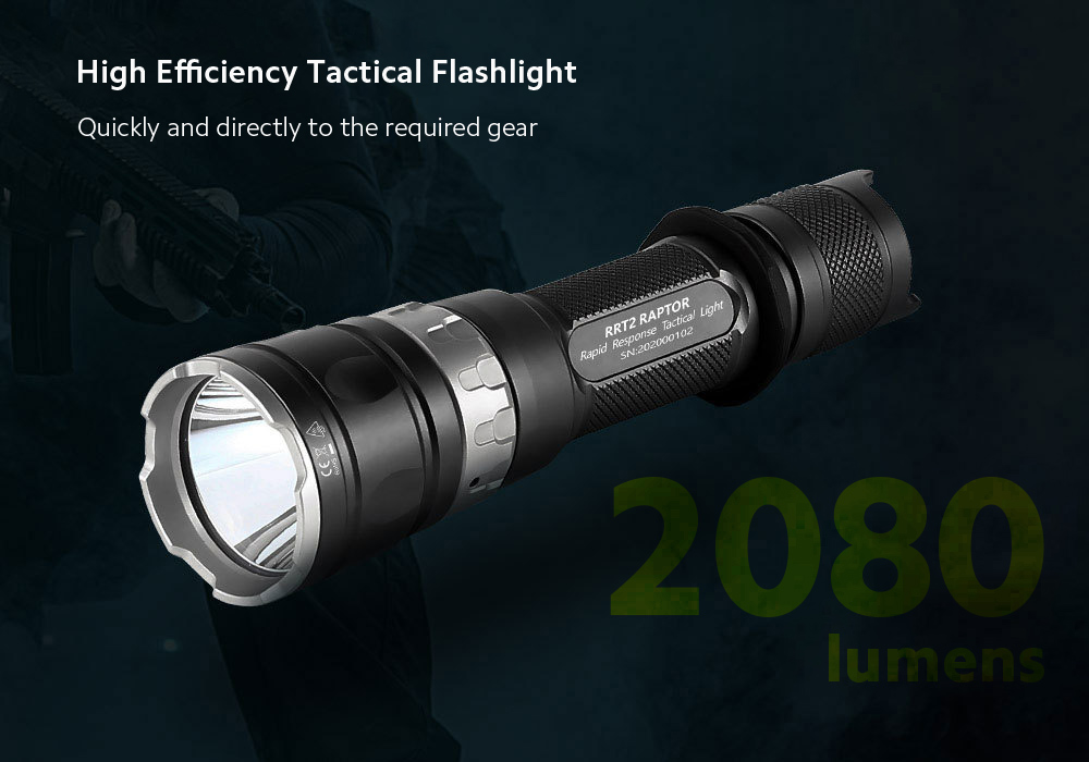 JETbeam RRT2 Strong Light Long Shot Tactical Flashlight