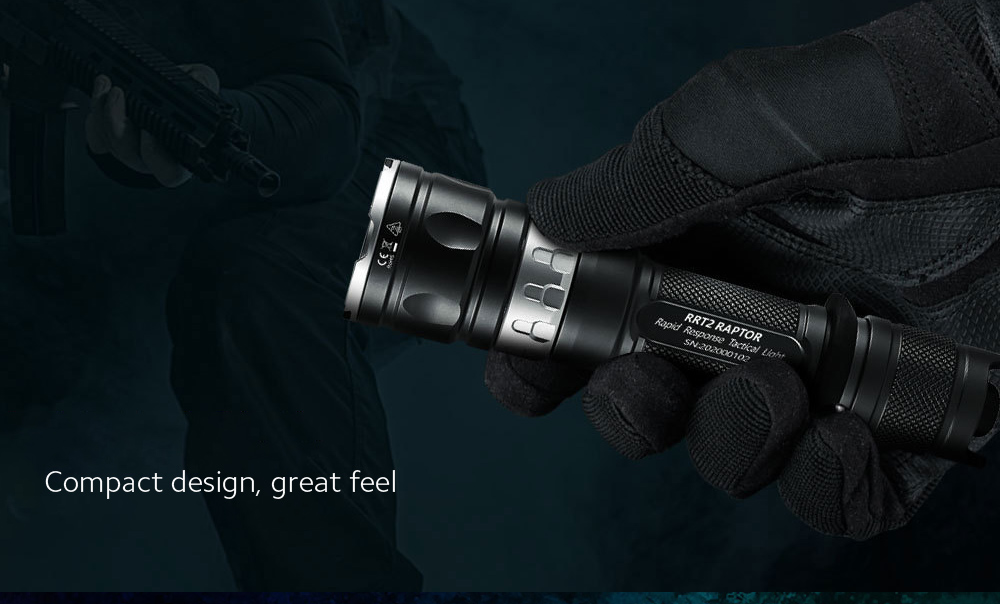 JETbeam RRT2 Strong Light Long Shot Tactical Flashlight Compact design, great feel