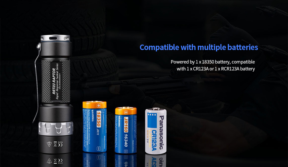JETBeam RRT03 Four-color Light Source Strong Lighting Flashlight Compatible with multiple batteries