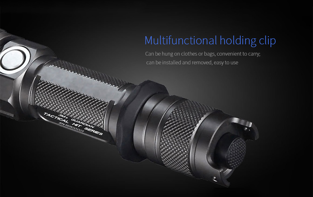 JETBeam 3Ms Outdoor Tactical Flashlight Multifunctional holding clip