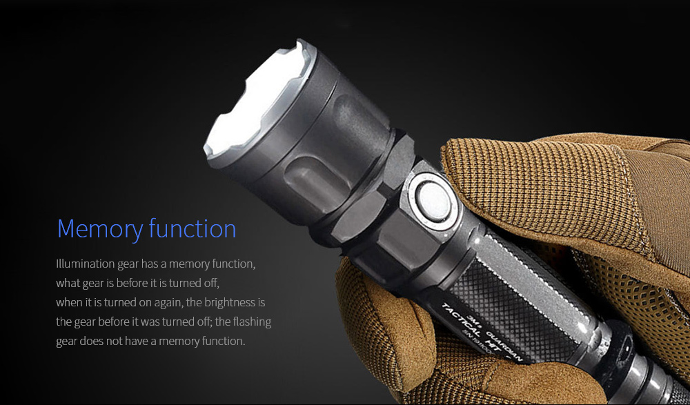 JETBeam 3Ms Outdoor Tactical Flashlight Memory function