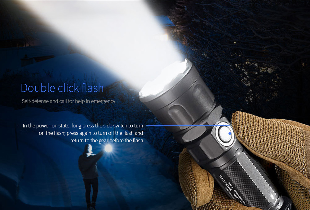 JETBeam 3Ms Outdoor Tactical Flashlight Double click flash