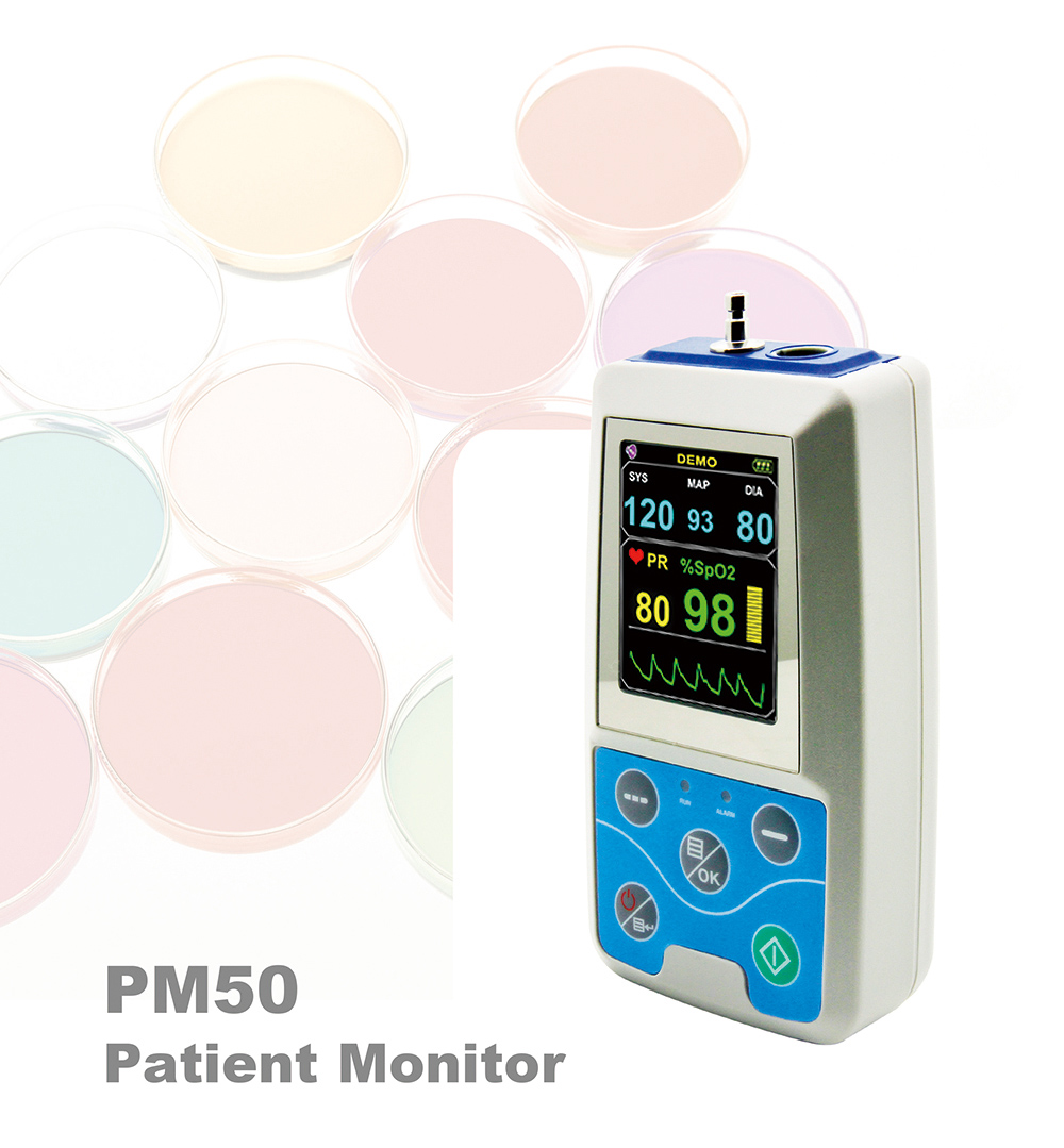PM50 Monitor Data Record Compact Portable for Patient - White