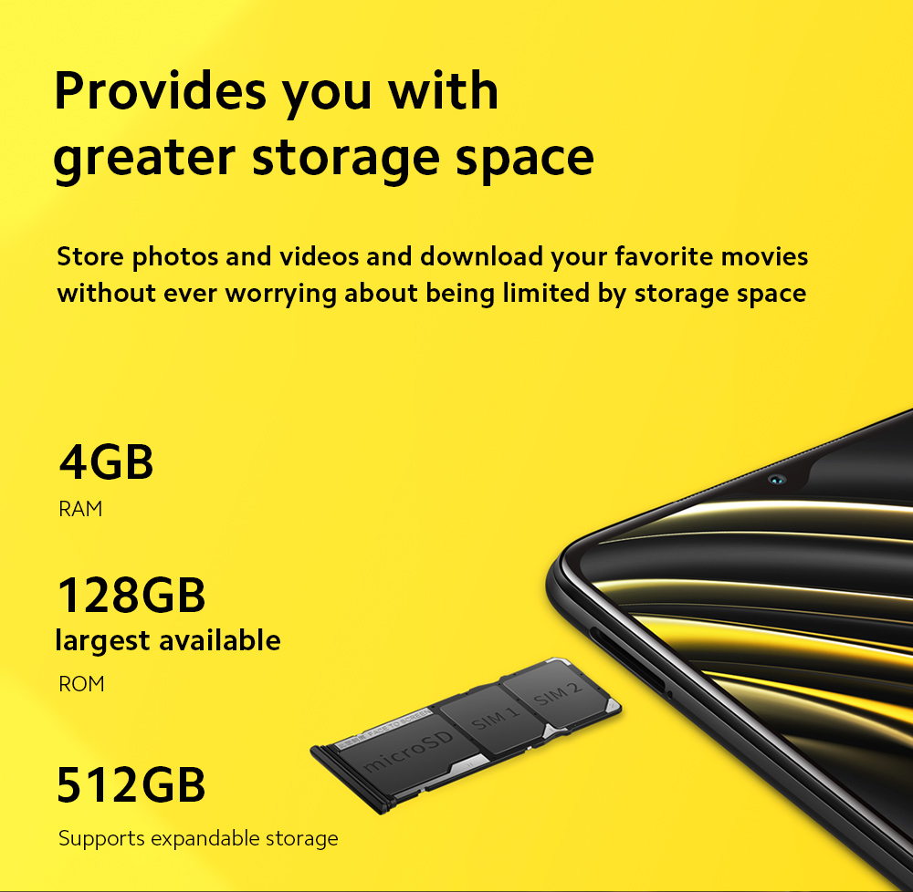 Xiaomi Poco M3 4G Smart Phone Storage Space