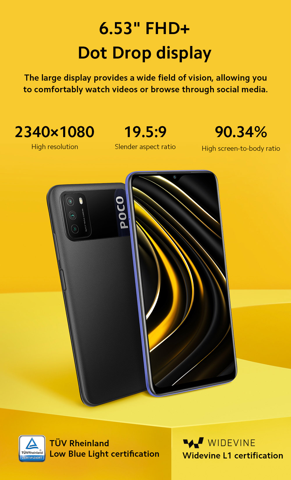 Xiaomi Poco M3 4G Smart Phone 6.53 inch Screen