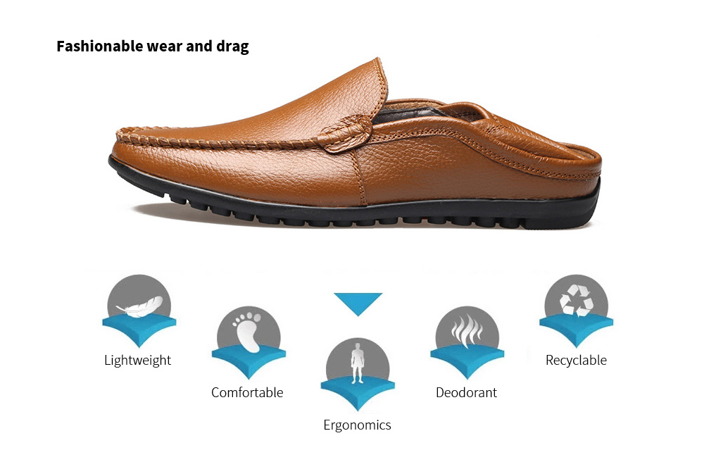 Men's Casual Peas Shoes Fashionable wear and drag