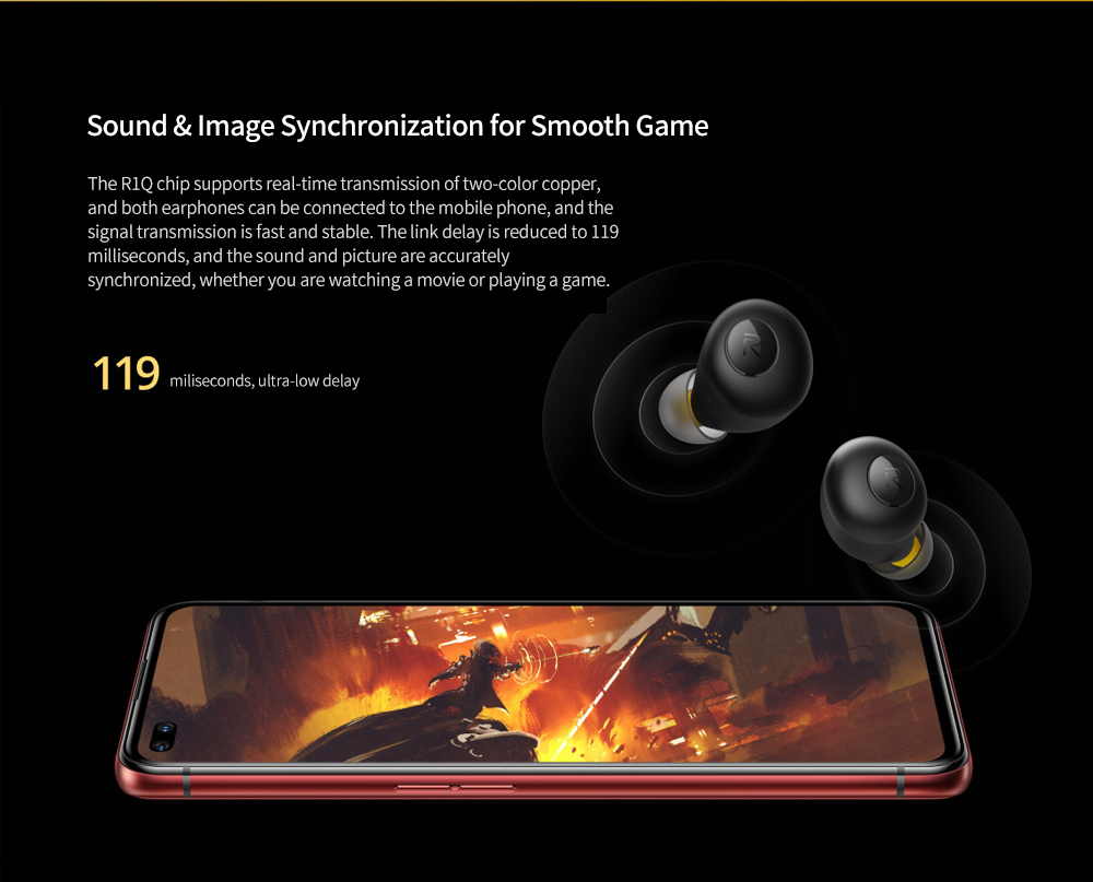 realme Buds Q Bluetooth 5.0 Wireless Earbuds Sound and Picture Sync