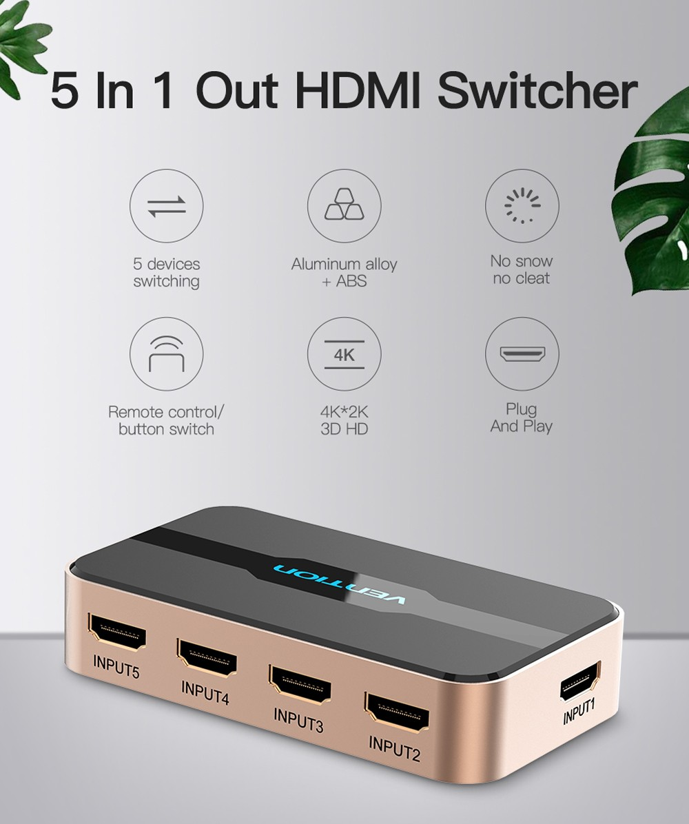 Vention ACDG0 HDMI Splitter - Golden