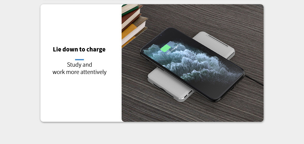 Y8 Wireless Charger One bracket unlocks three charging positions