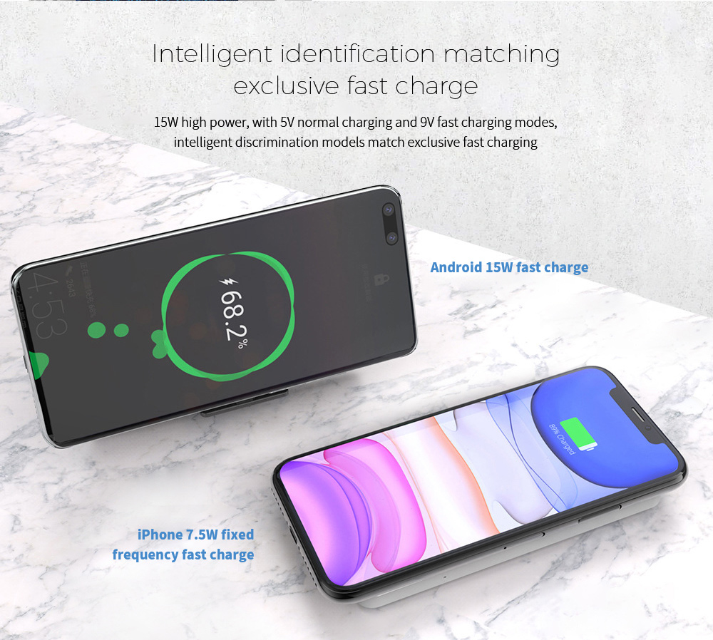 Y8 Wireless Charger Intelligent identification matching exclusive fast charge