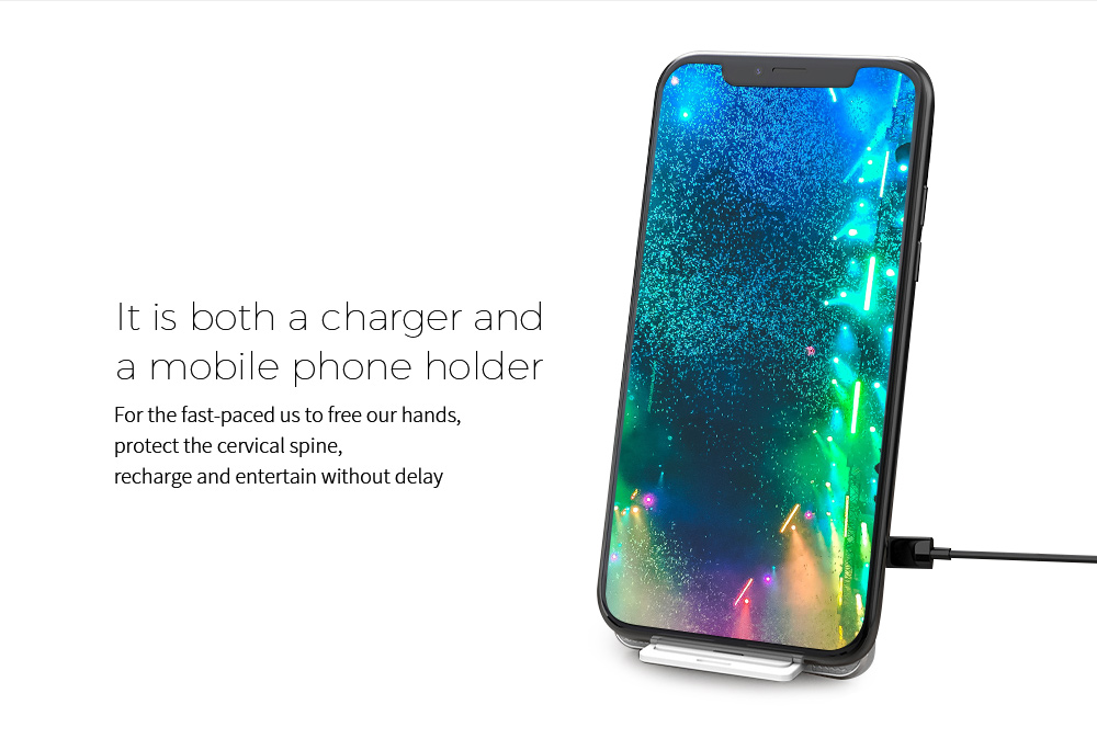 Y8 Wireless Charger It is both a charger and a mobile phone holder