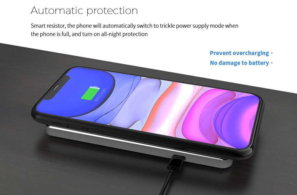 Y8 Wireless Charger Automatic protection