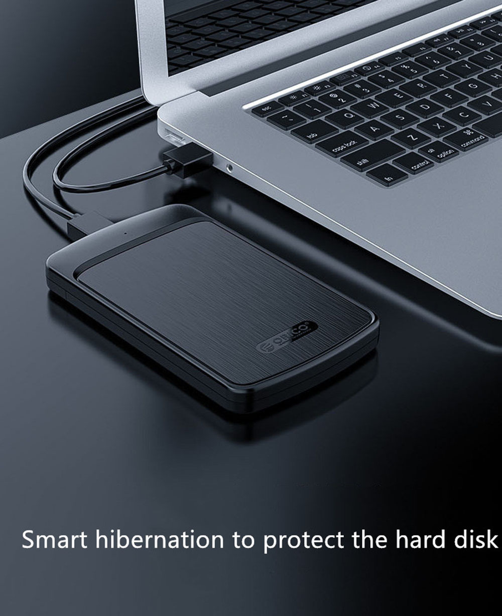 Orico HDD Enclosure External Hard Drive Mobile Hard Disk Protection Box SATA 3.0 USB 3.0 5 Gbps 4 TB Compatible SSD UASP HD - Carbon Fiber Black