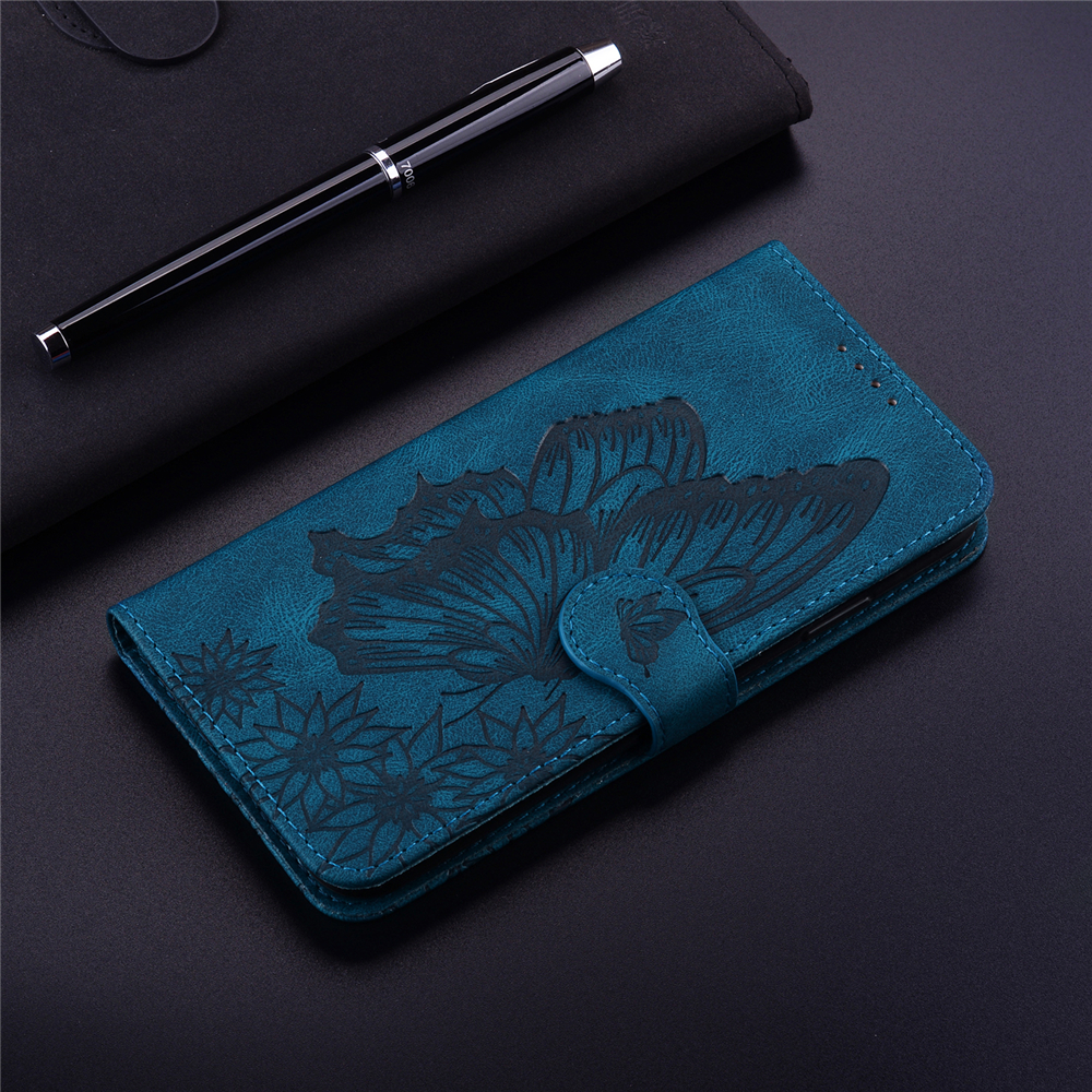 Butterfly Wallet Leather Case For Samsung Galaxy Note 20 Ultra Cover Flip Cases - Black