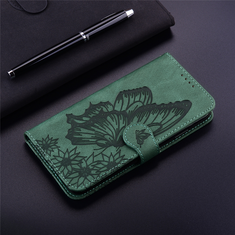 Butterfly Wallet Leather Case For iPhone  XR Cover Luxury Quality Flip Case - Blue