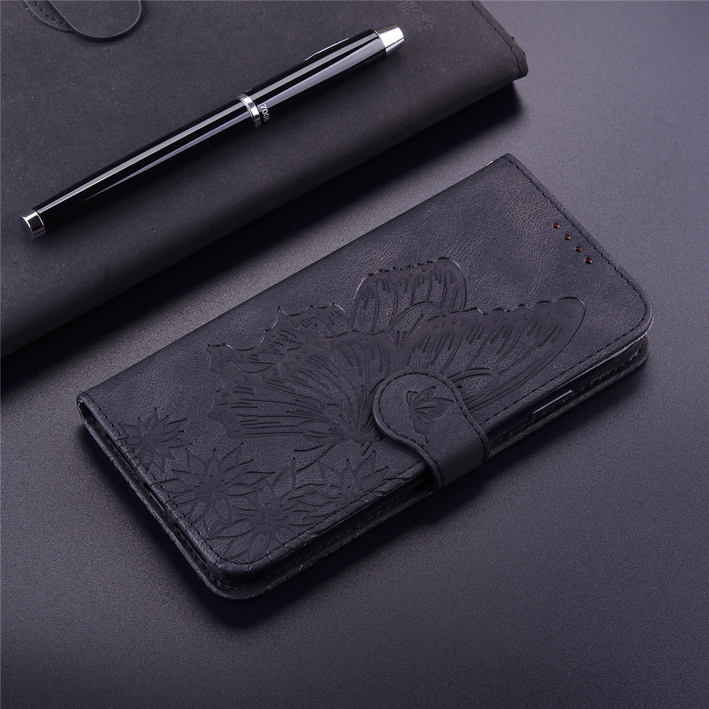 Butterfly Wallet Leather Case For iPhone 11 Pro Max Cover Luxury Flip Case - Brown