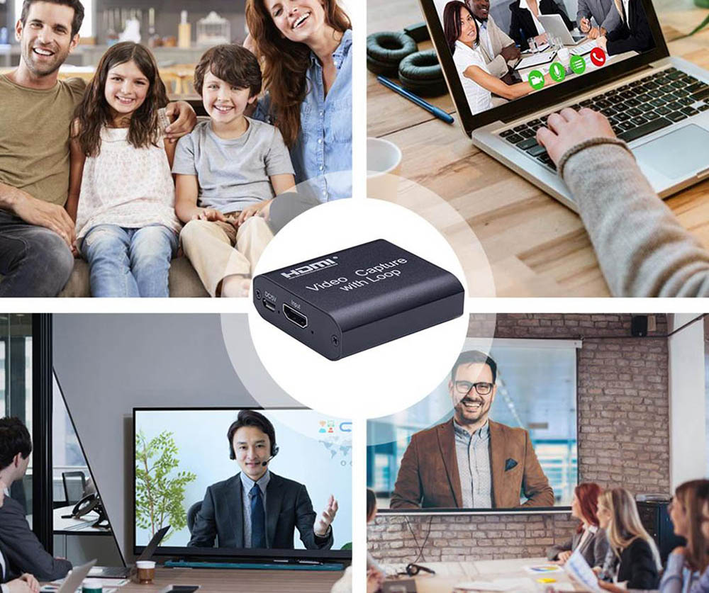 HDMI Capture Card USB Turn HDMI With Loop High-definition Live USB External SWITCH Game PS4 Recording Box - Black
