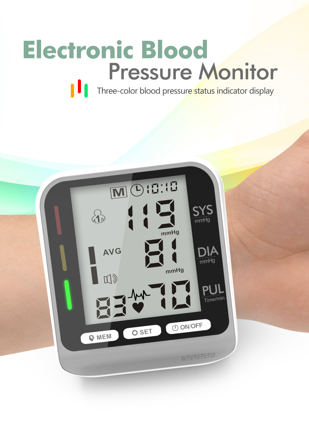 JZ-253A Blood Pressure Monitor - Gray