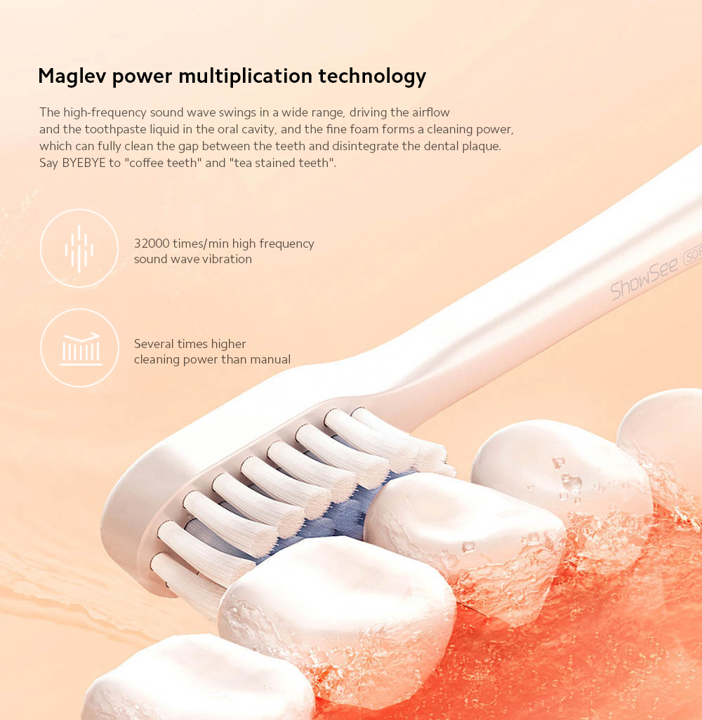 D1-W / D1-P Electric Sonic Toothbrush Maglev power multiplication technology