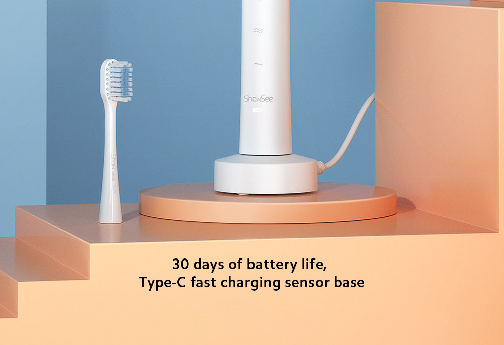D1-W / D1-P Electric Sonic Toothbrush 30 days of battery life