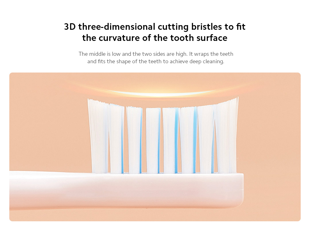 D1-W / D1-P Electric Sonic Toothbrush 3D three-dimensional cutting bristles to fit the curvature of the tooth surface