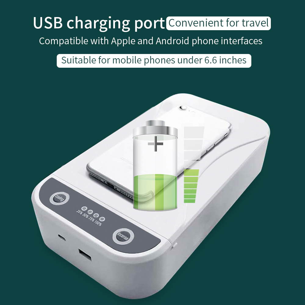 UV Disinfection Box Wireless Charging Aromatherapy Harmless - White