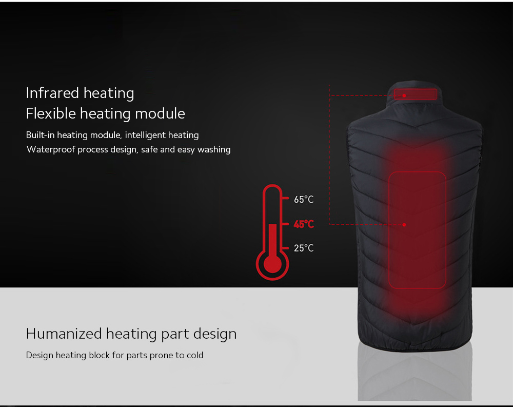 USB Charged Smart Vest Infrared heating