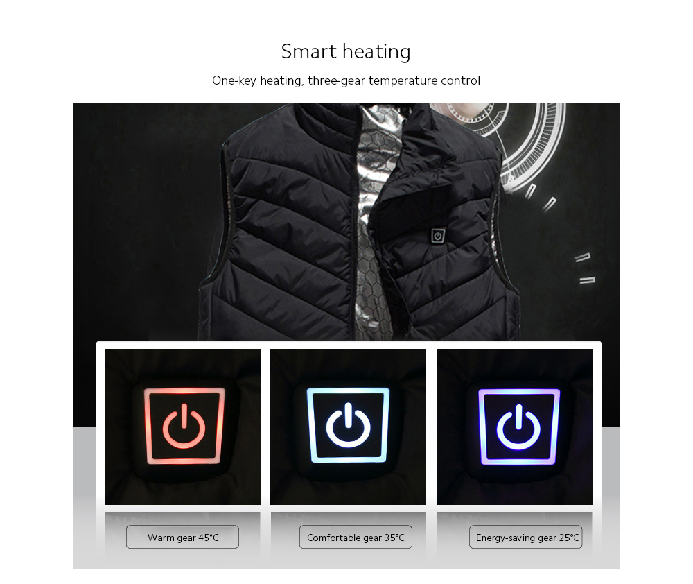 USB Charged Vest Smart heating