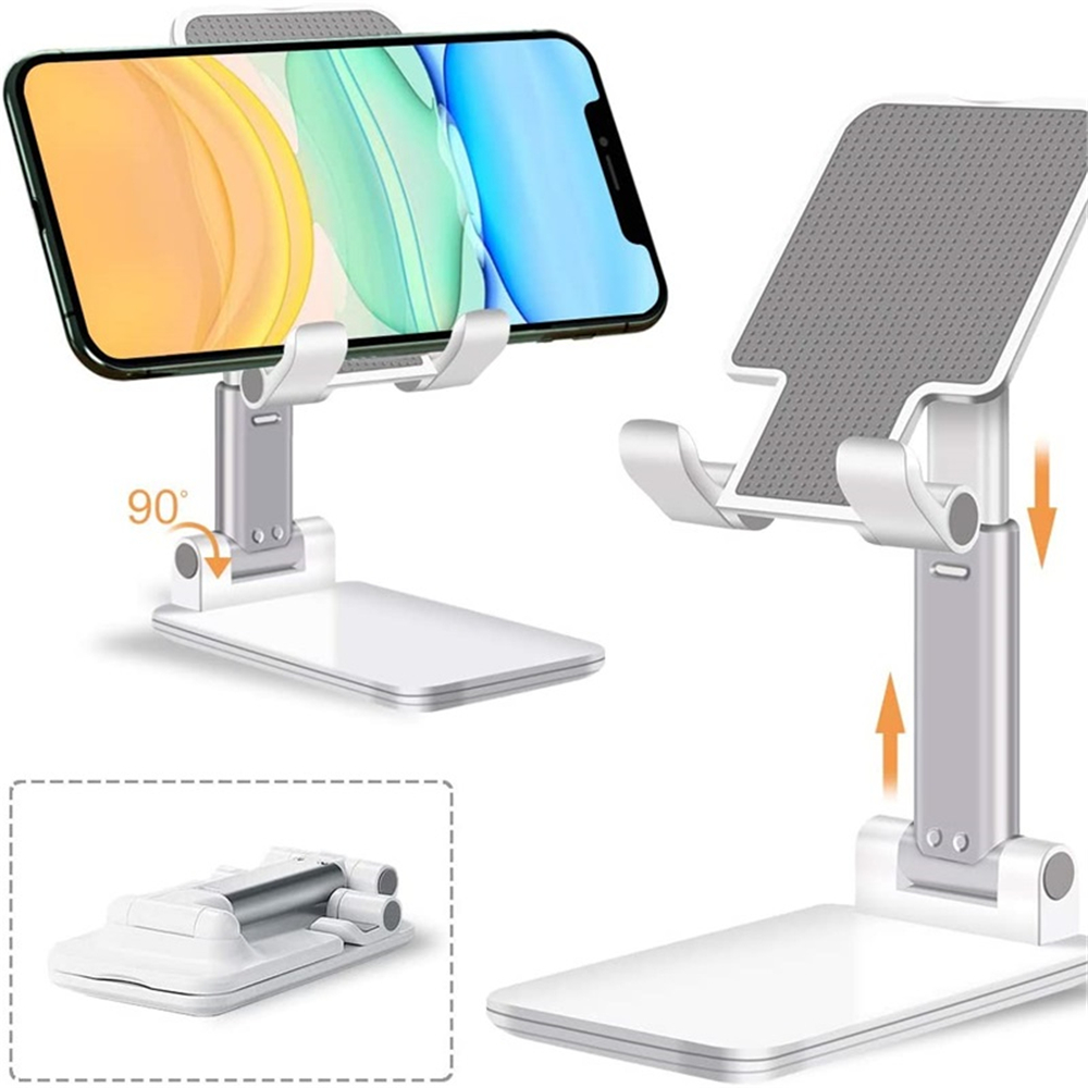 Mobile Phone Holder Stand Adjustable Desktop Tablet Universal Cell Phone Holder - Black