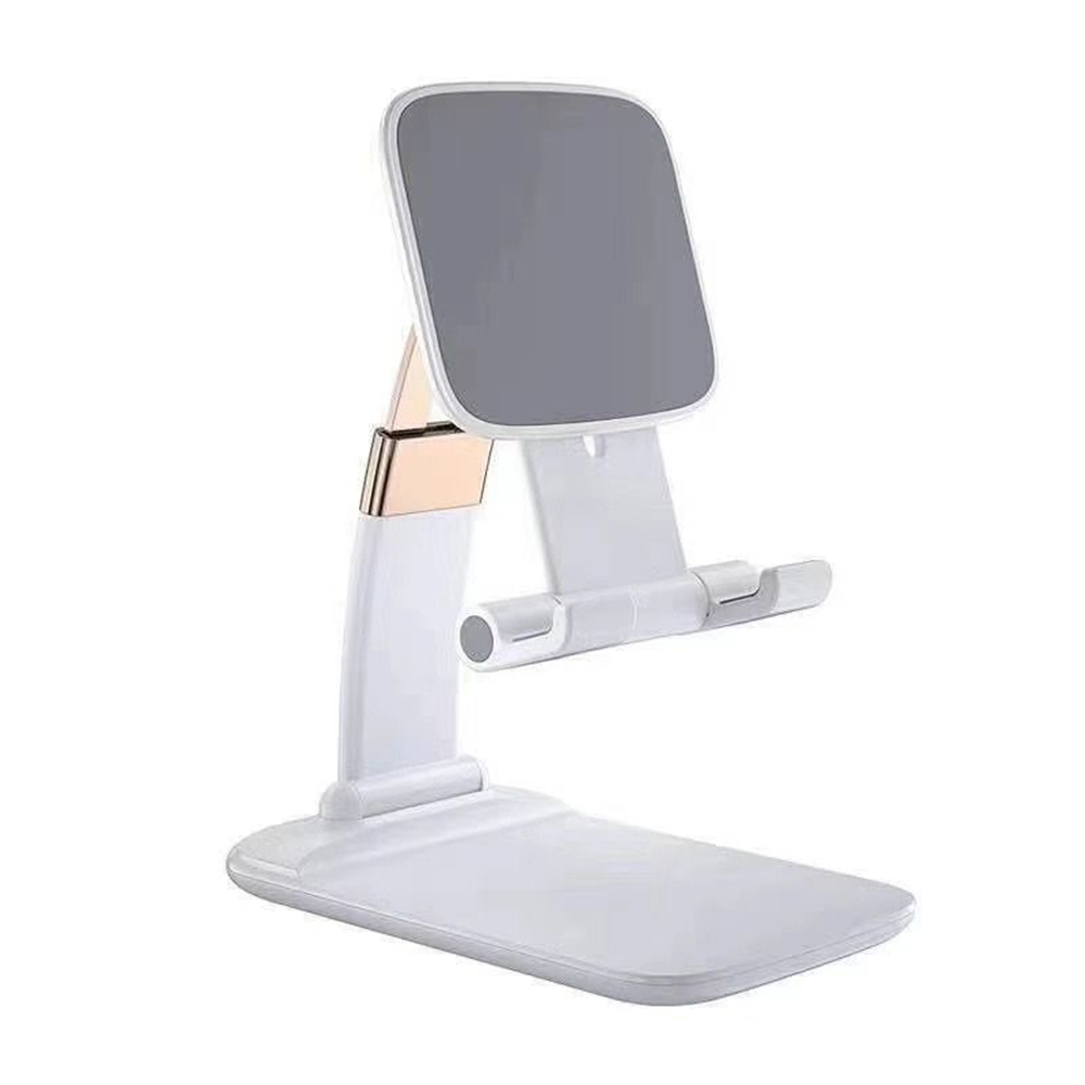 Foldable Desktop Phone Holder Stand Tablet  Gravity Bracket for IPHONE / Huawei - White