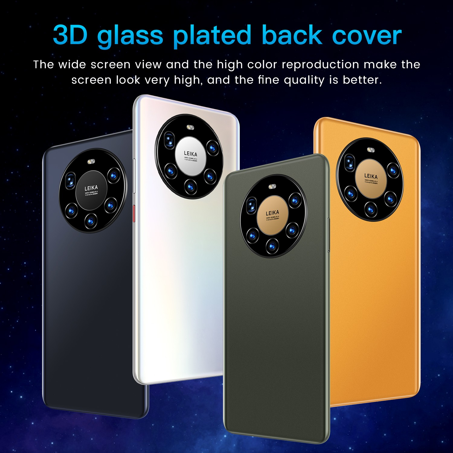 Mate40 Pro+ Smartphone 3D glass plated back cover